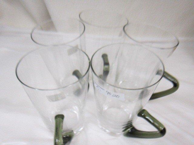 9020: 5 pc.crystal beer mugs