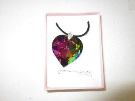 8003: Murano crystal heart pendant