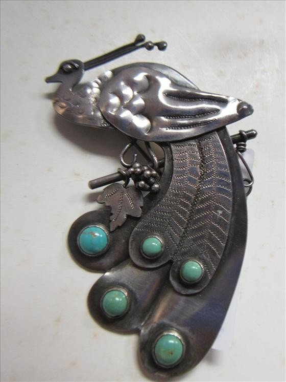 5011: Sterling pin- tested-peacock
