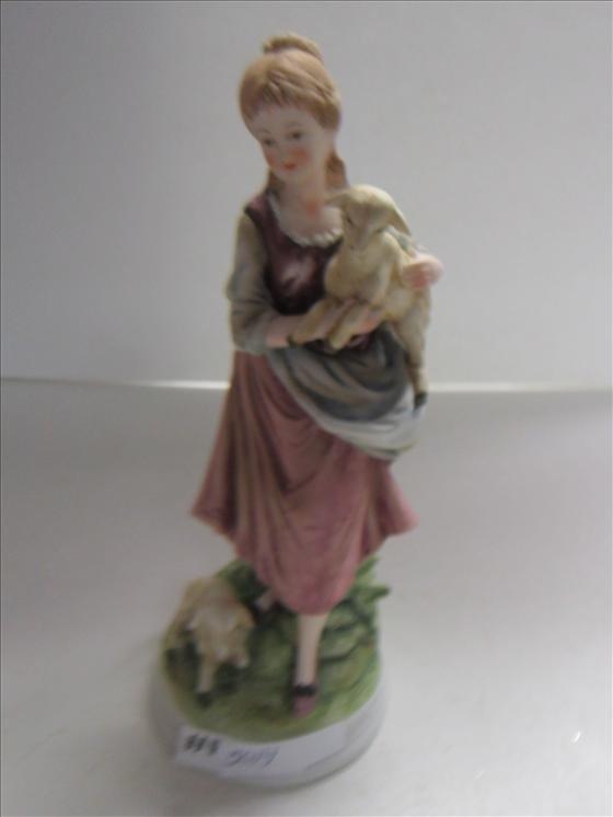 5014: Porcelain figurine- bisque-girl