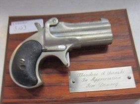 5123: Display Derringer on plaque- 38 cal