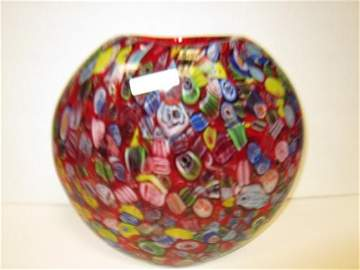 3001: Murano glass lat sided vase