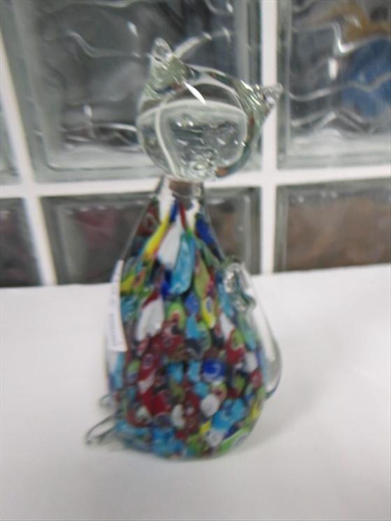 3011: Murano glass Milliefiori cat