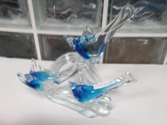 3014: Murano glass triple flying geese