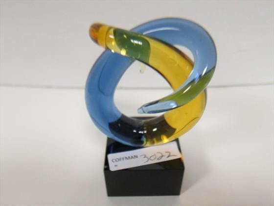 3022: Murano glass free form sculpture