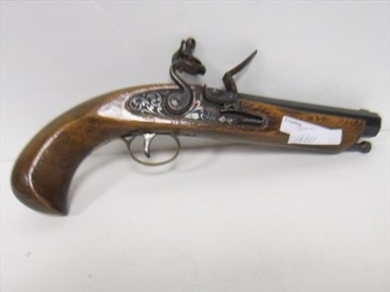 1880: Black powder gun wood stock
