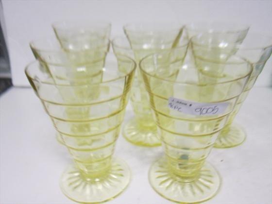 9005: 8 Amber block Optic tumblers