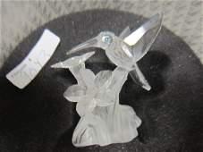 9043: Swarovski #A7615NR Hummingbird on flower