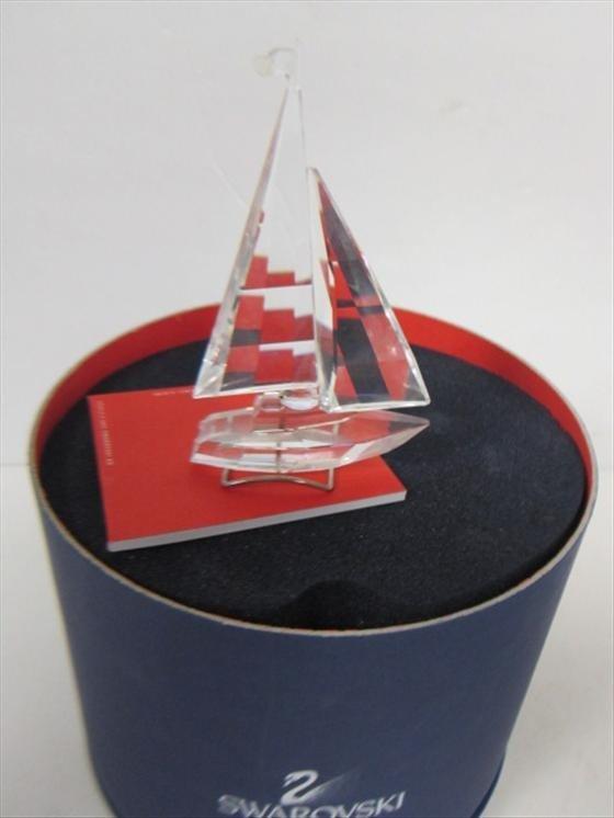 4017: Swarovski crystal sail boat #A7473