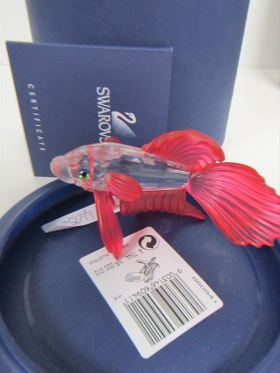 4052: Swarovski crystal #A7644 fancy tail goldfish