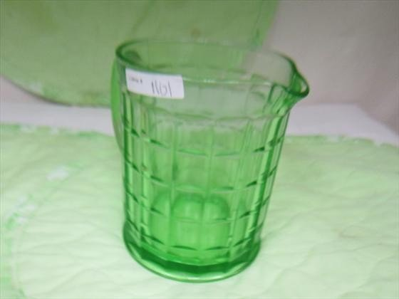 1101: Depression glass Colonial Block  pitcher