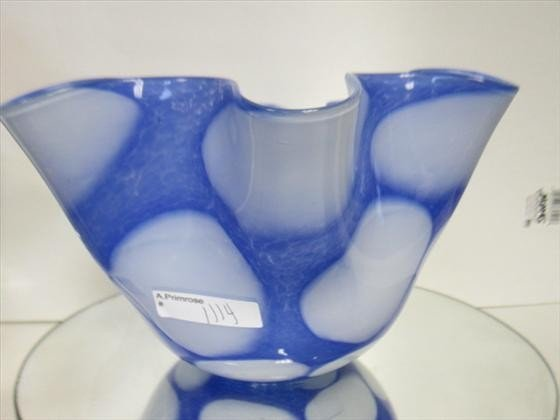 1114: Murano Glass - fluted bowl
