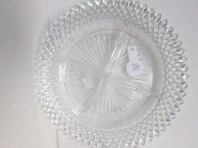 Miss America Depression Glass 4 Part Relish Dish