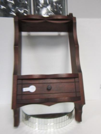 1149: Wood shelf with draw