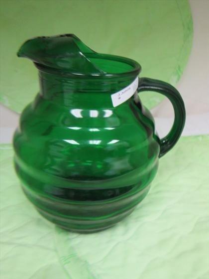 1167: Dark forest green pitcher