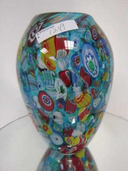 1249 Murano Glass Millefiori Vase