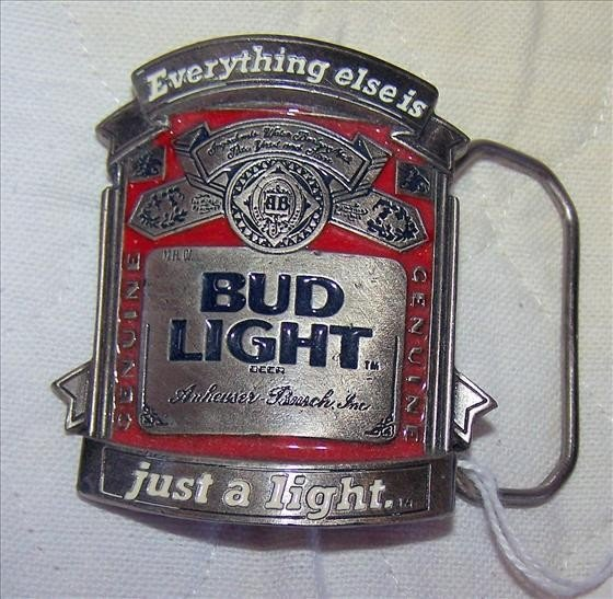 111: Bud Light belt buckle BA-314 Official