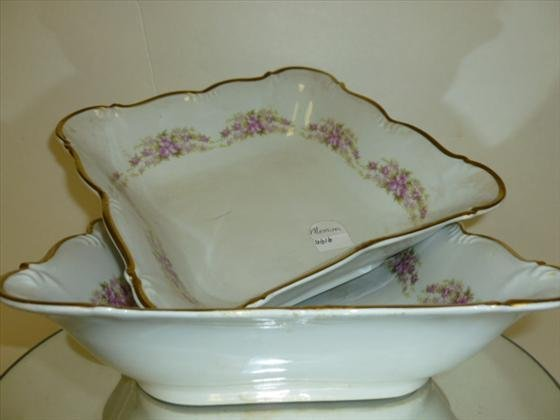2 sq serving bowls-Dresden Rose Grace China