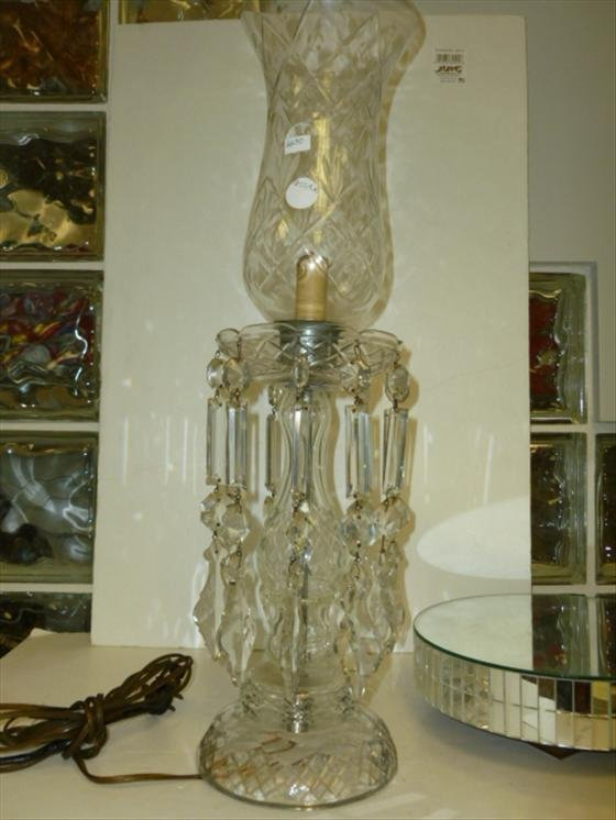 Electric hurricane table crystal lamp- 2'