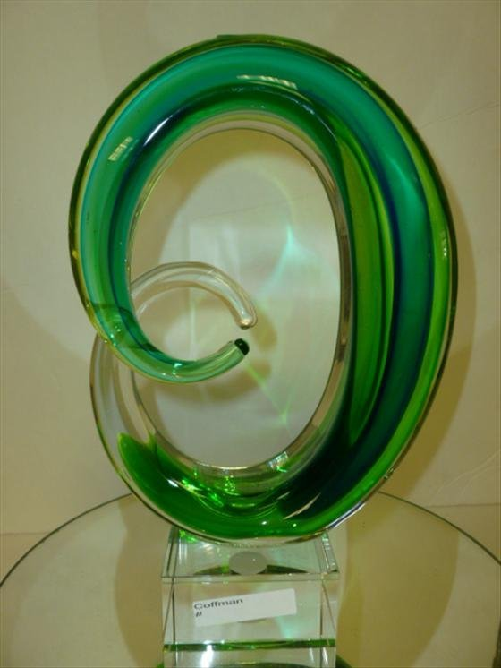 "Murano glass free form sculpture-10 1/2"""