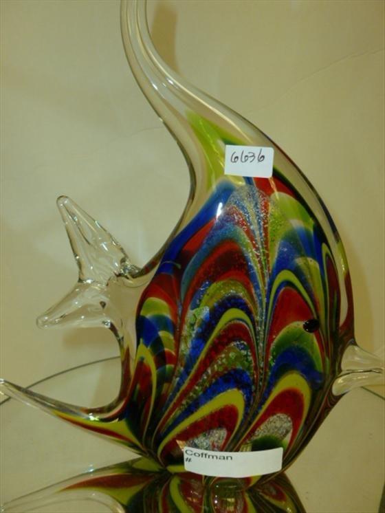 """Murano glass angel fish 9"""""""