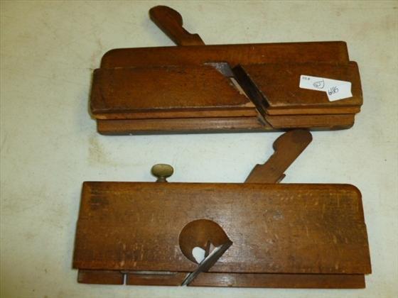 2 antique wood planes-Wharry,Shiverick
