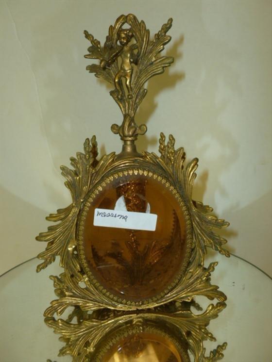 Gilt gold metal & topaz glass perfume