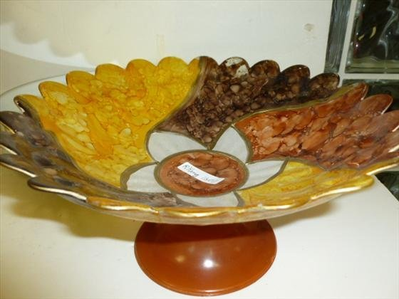 1801: Murano glass pedestal table  dish