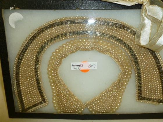 1807: 2 piece beaded collars with pearls and beads