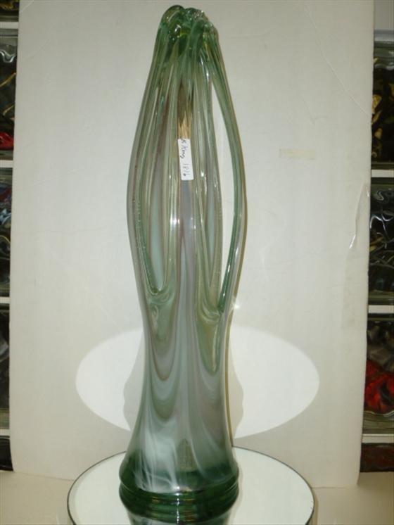 "1816: Art glass free form glass vase-21 1/2 tall""h"