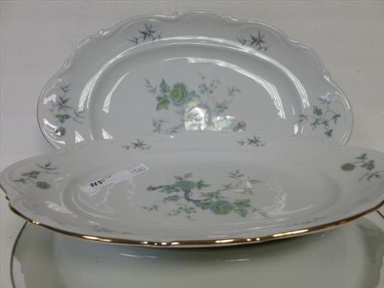 1820: 2 pc-Mitterteich Bavaria Ming platters