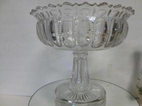 EAPG Pedestal Center Table Bowl