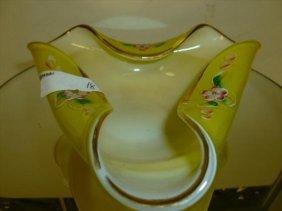 Murano Glass Tri Corner Cased Glass Dish