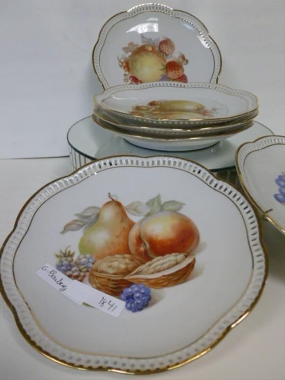 1841: 6 plates-Schumann Arzberg Germany