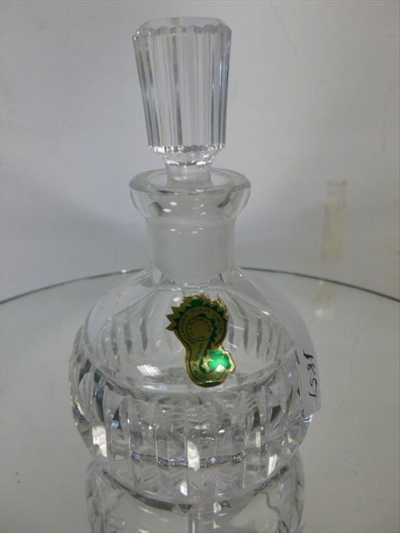 """1851: Waterford crystal perfume-4 3/4""""h"""
