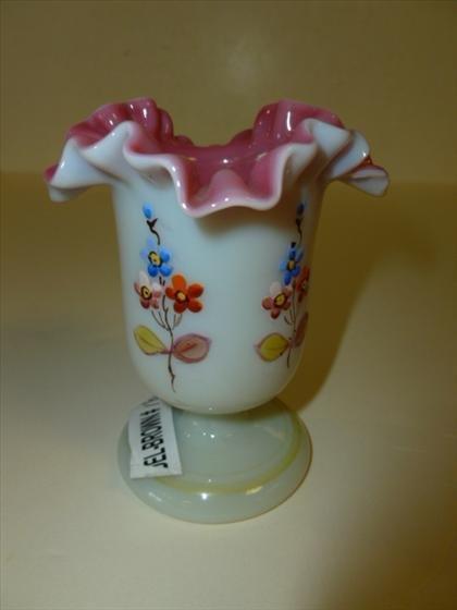 Fenton Peach Crest small vase