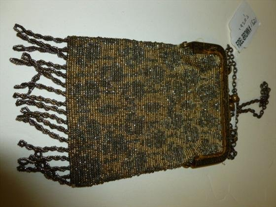 French beaded mesh purse 1920's