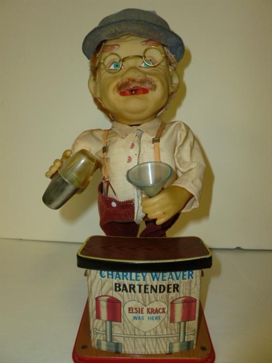 Charley Weaver Bartender battery toy