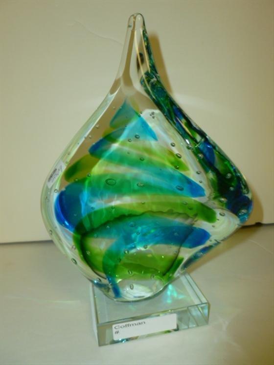 Murano glass free form sculpture
