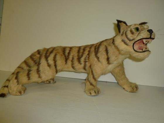 Stuffed statue of a Tiger