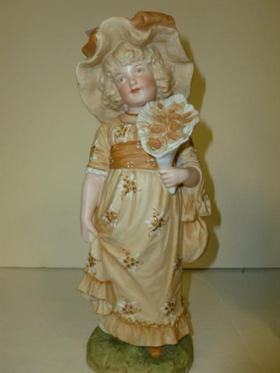 German bisque porcelain figurine
