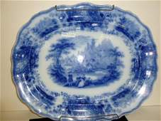 Large flow blue platter