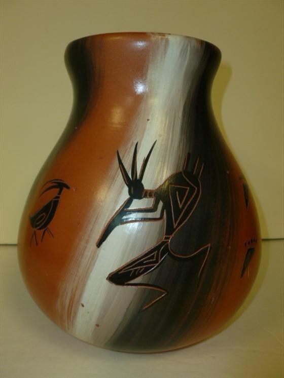 San Juan Pueblo Jar--signed