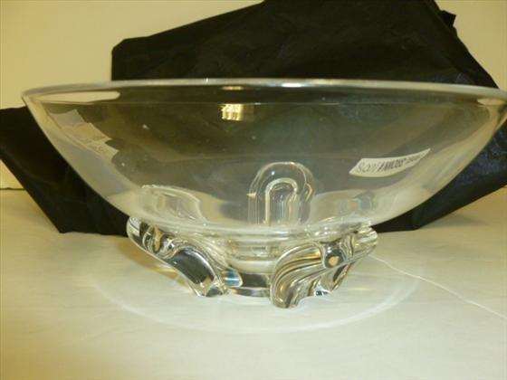 Steuben Crystal bowl-7 1/2-3 1/2-Steuben
