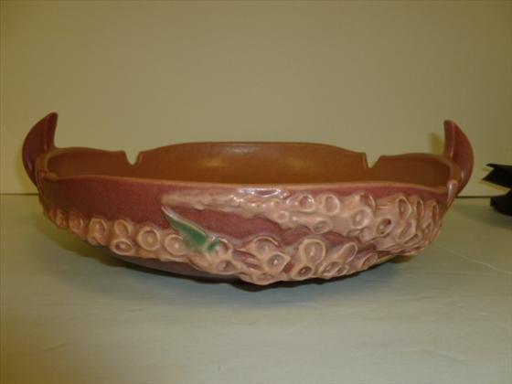 Roseville console bowl- Foxglove
