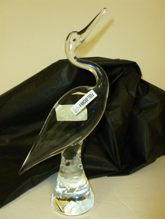 Marolin Art Crystal Bird figurine