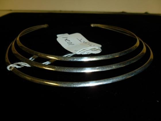 Sterling choker for lady- 0.71 troy oz.3 sections