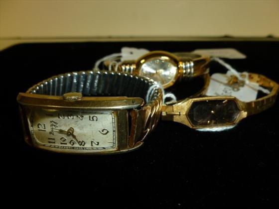 3 watches- Man's10 KT- Ladies -Bilisimo- Seiko