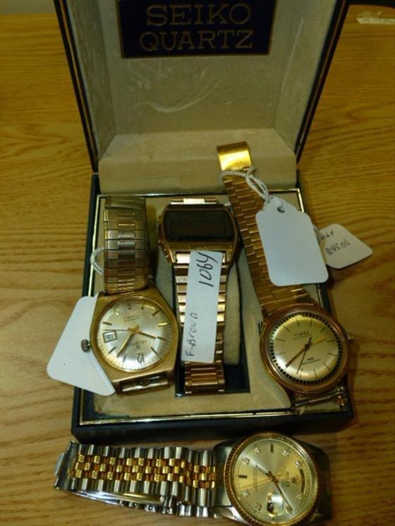 4 assorted men's watches