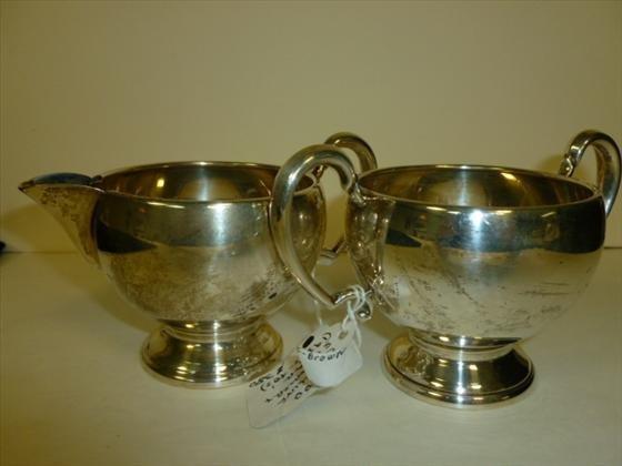 Sterling silver creamer and sugar- 1930-40's
